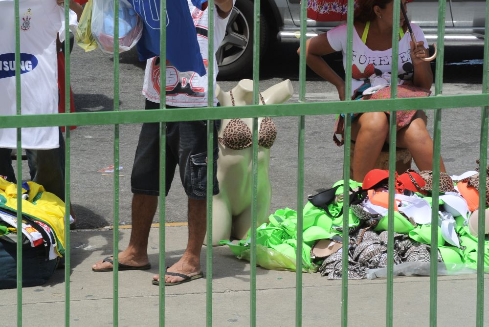 Straße in Fortaleza - Kleidermarkt