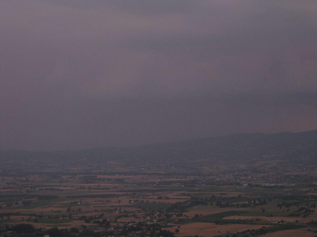 Italienische Landschaft bei Regen