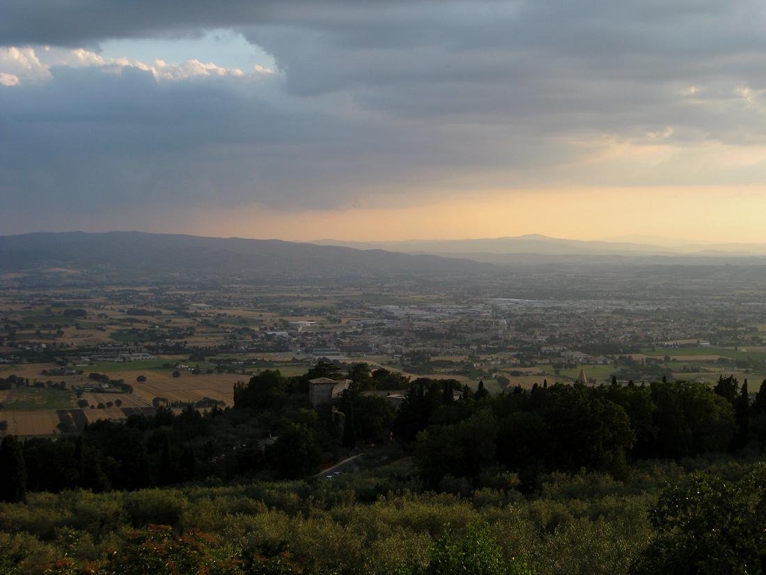 Ideale italienische Landschaft Umbrien