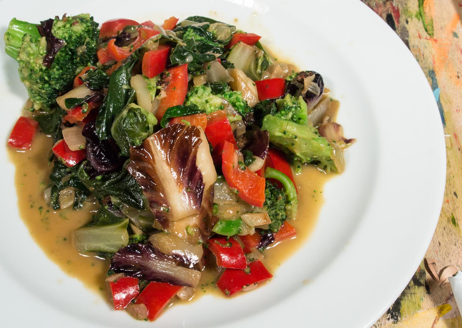 Gemüse mit Mangold und Radicchio
