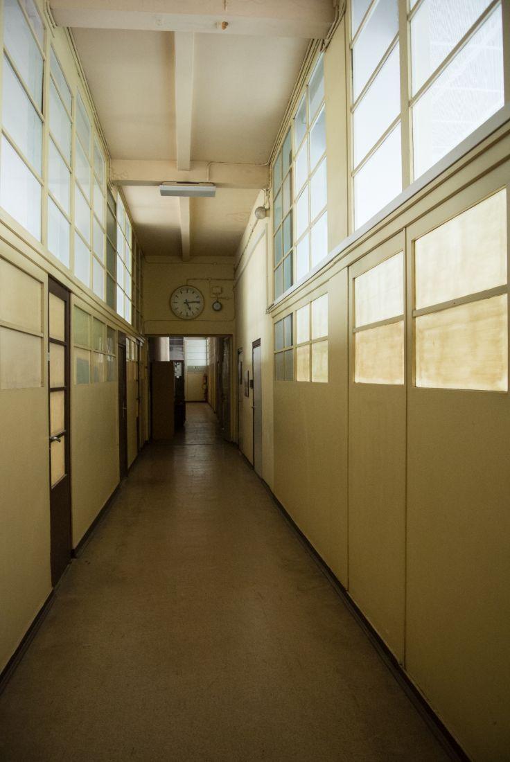 Die Flure in Verwaltungsgebäuden