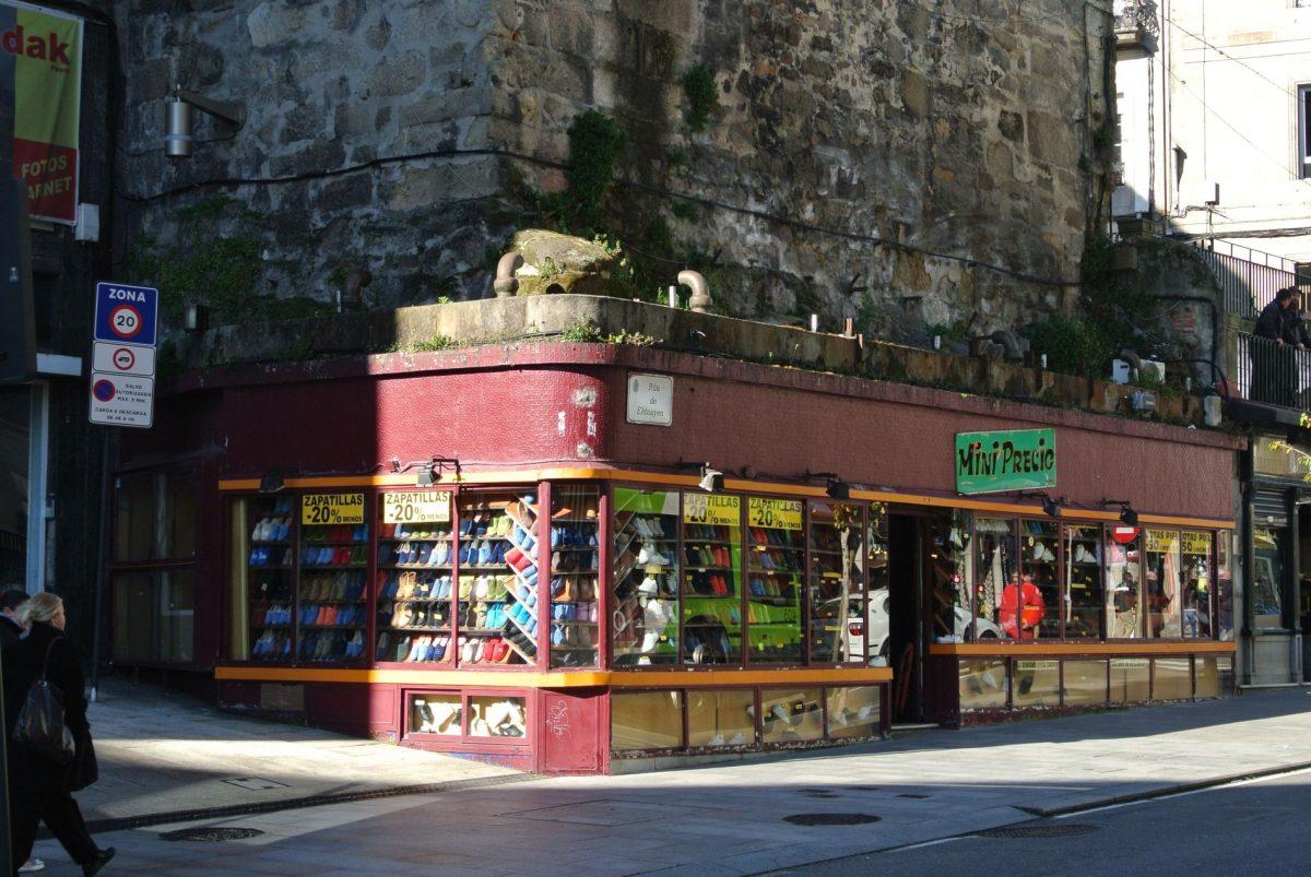 Pantoffelladen in Vigo Spanien