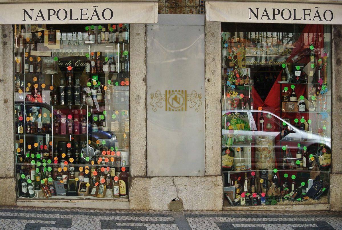 Spirituosengeschaft in Lissabon