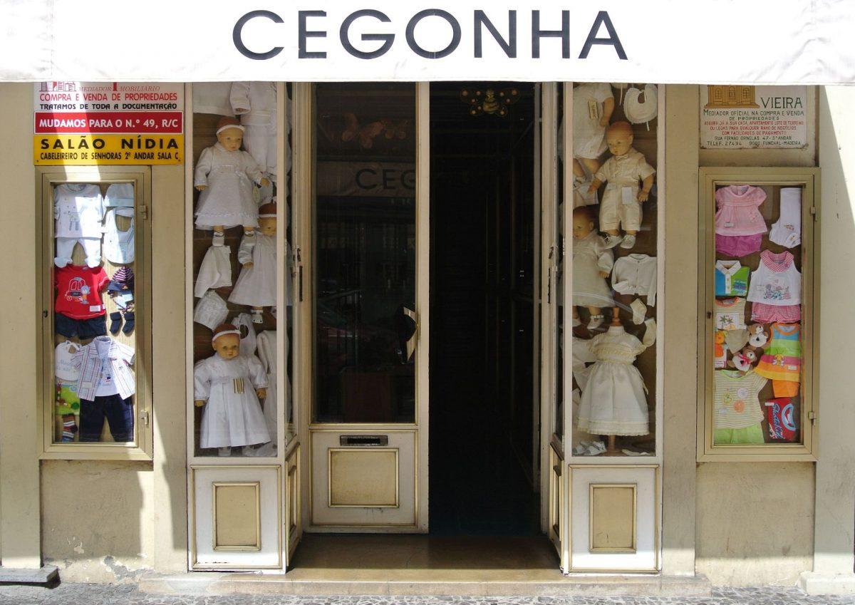 Schaufenster Kinderkleidung Funchal