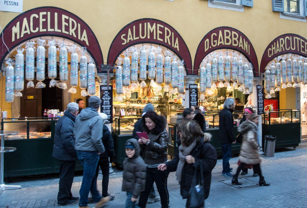 Wurstladen in Italien
