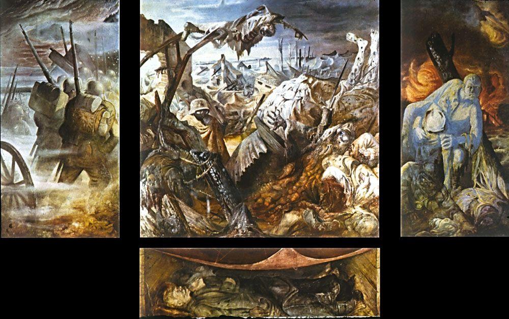 Otto Dix Krieg Triptychon mit Predella (1929 - 1932) Galerie Neue Meister Dresden
