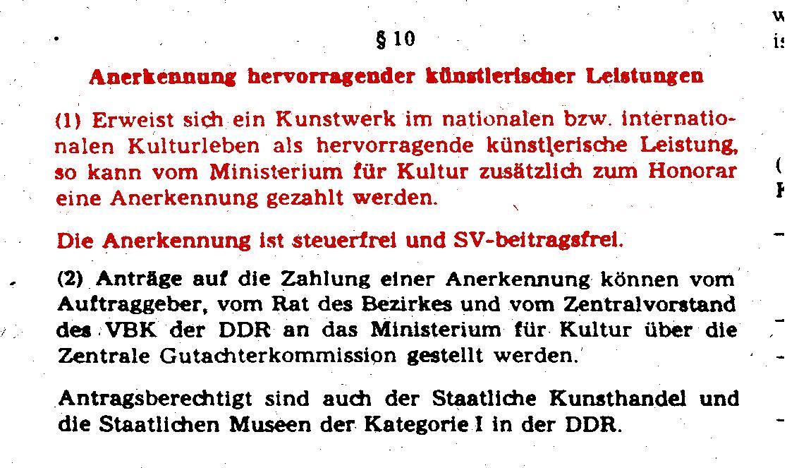 Hervorragende Leistungen in der DDR