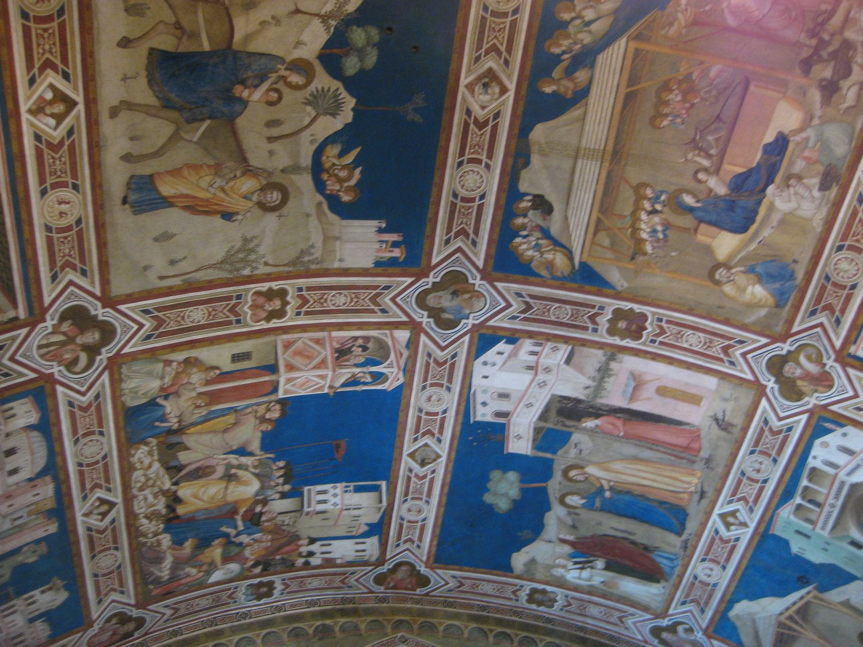 Fresco aus Giottos Zeit