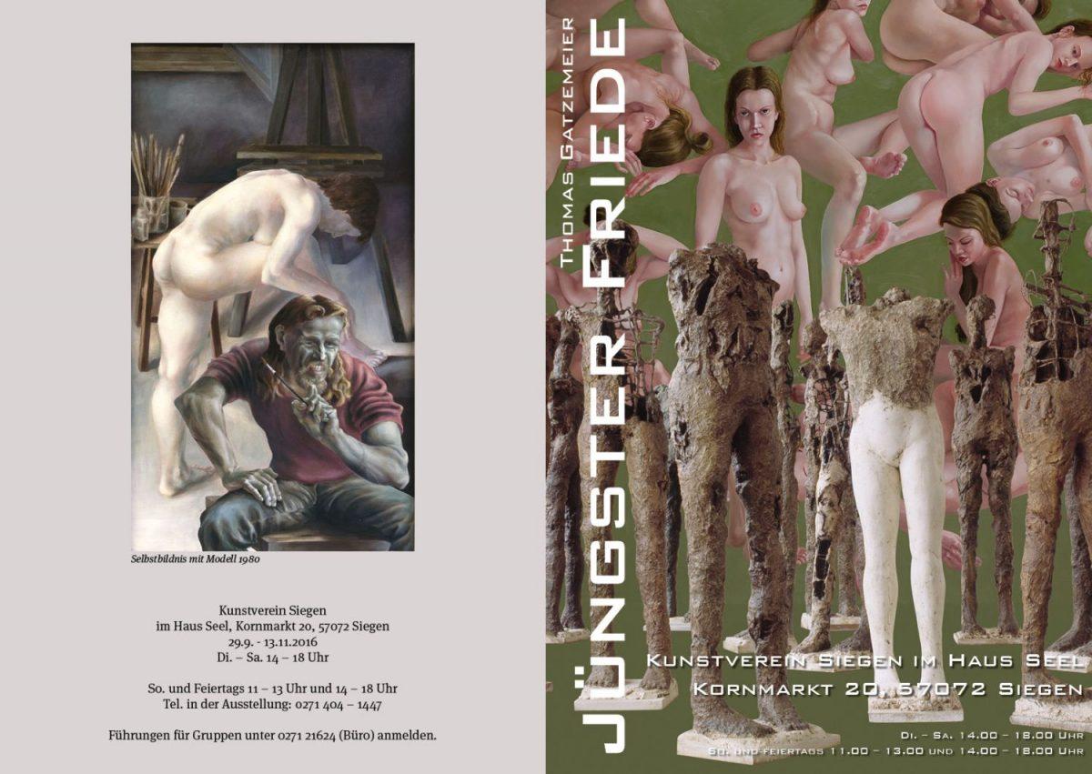 Einladung Siegen Kunstverein Ausstellung Jüngster Friede 2016
