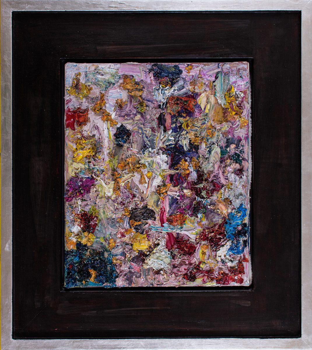 Harlikin im Gegenlicht 1998 Öl-auf Leinwand 39 x 32 cm