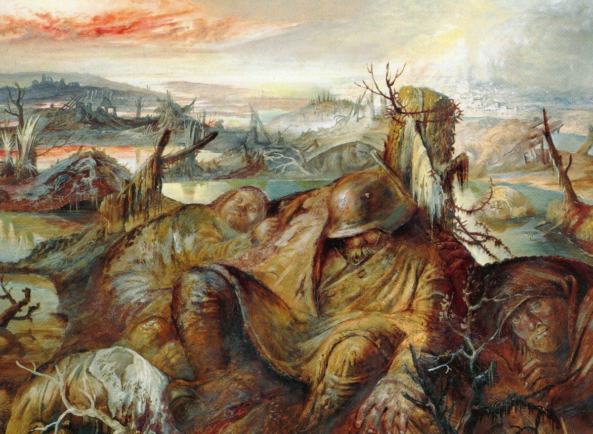 Gemälde von Otto Dix Flandern Kriegsdarstellung