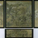 Otto Dix Karton zum Triptychon Der Krieg 1928-1930
