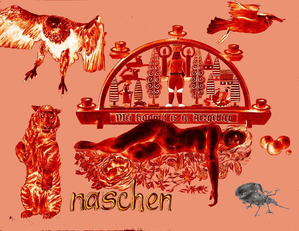"""""""naschen"""" 2013 Farbvariante 4 Giclée – Pigmentdruck 43 x 60 cm"""