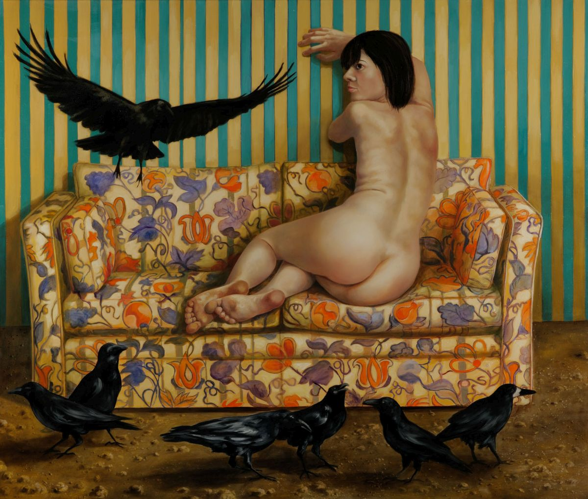 Die Vögel 2008 Öl auf Lwd. 110x130 cm