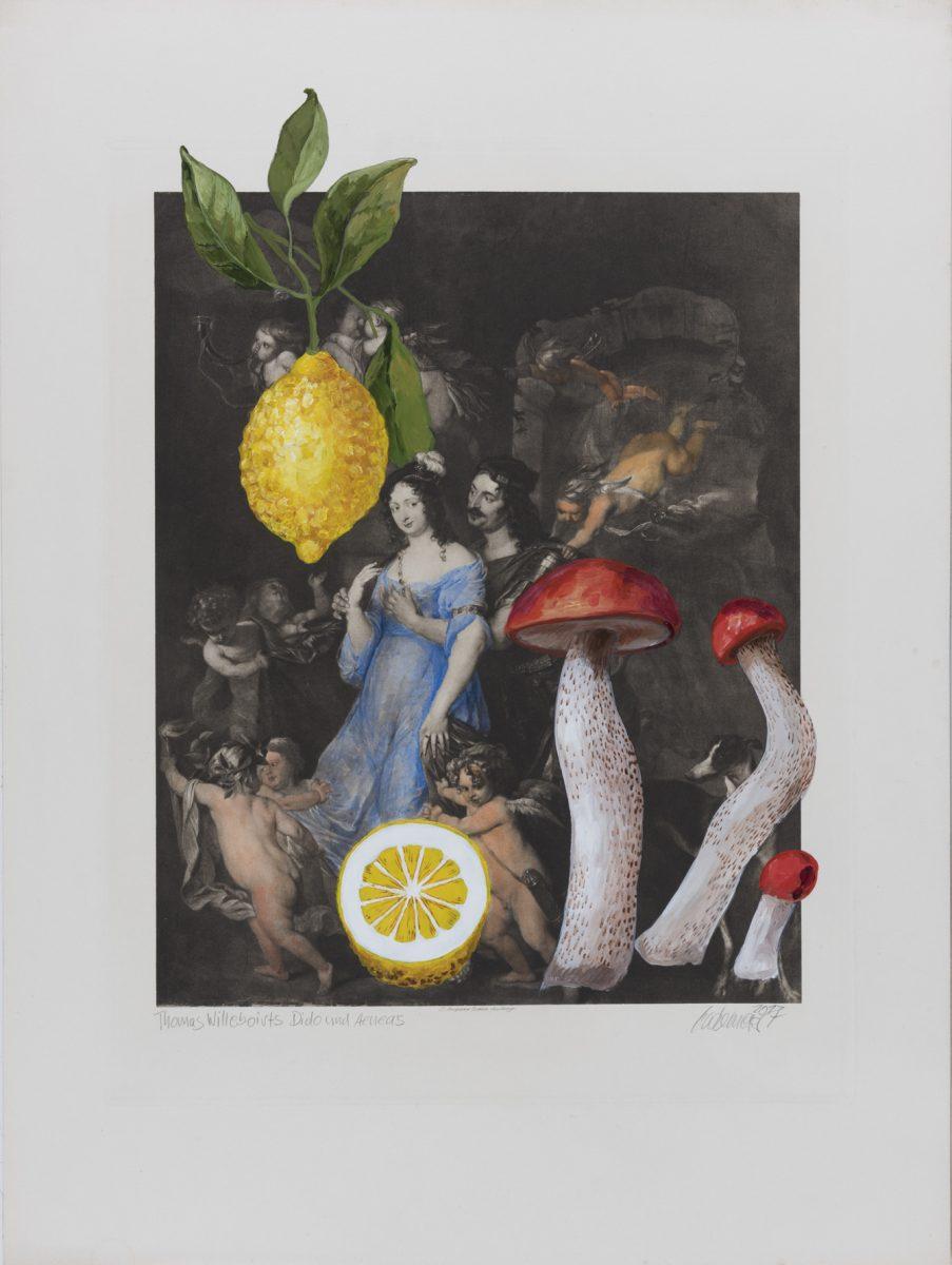 Dido und Aeneas (Willeboirts) 2017 Acryl auf Heliogravüre 50,8cm x 37,8cm