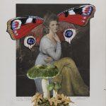 Die Countess (Romney) 2017 Acryl auf Heliogravüre 50,8cm x 37,8cm