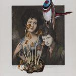 Miss Linley und ihr Bruder (Gainsborough) 2017 Acryl auf Heliogravüre 50,8cm x 37,8cm