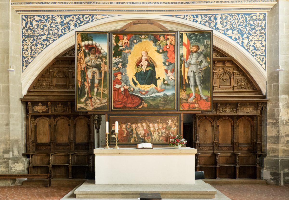 Altar der Cranach-Werkstatt in der Marktkirche Halle