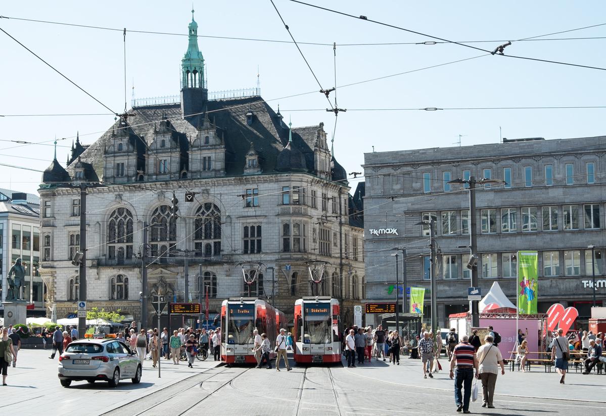 Das Rathaus in Halle an der Saale