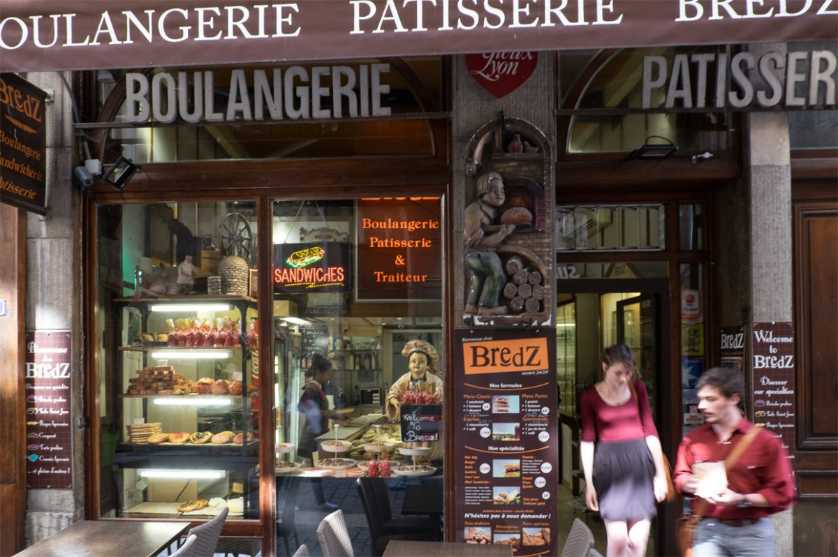 Traditionelle Boulangerie in Lyon