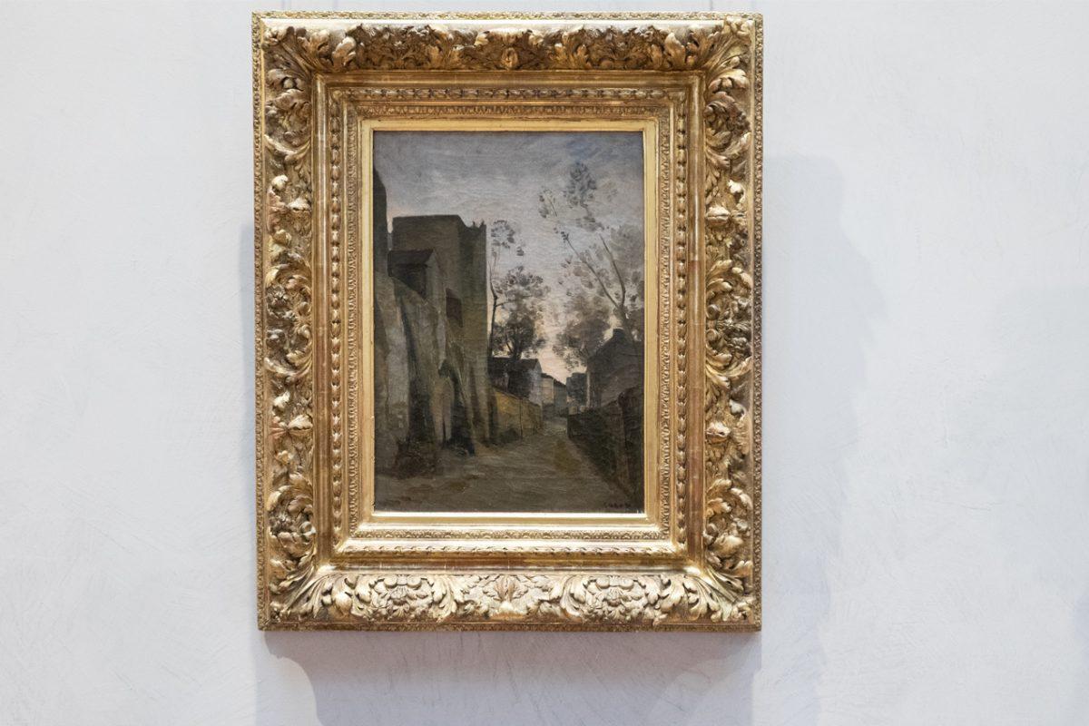 Camille Corot La Rue des Saules a Montmartre Lyon