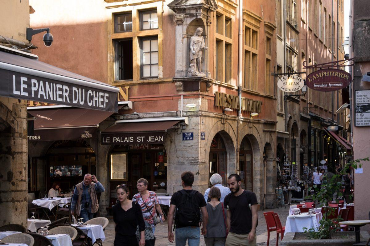 Das Leben in den Gassen von Lyon