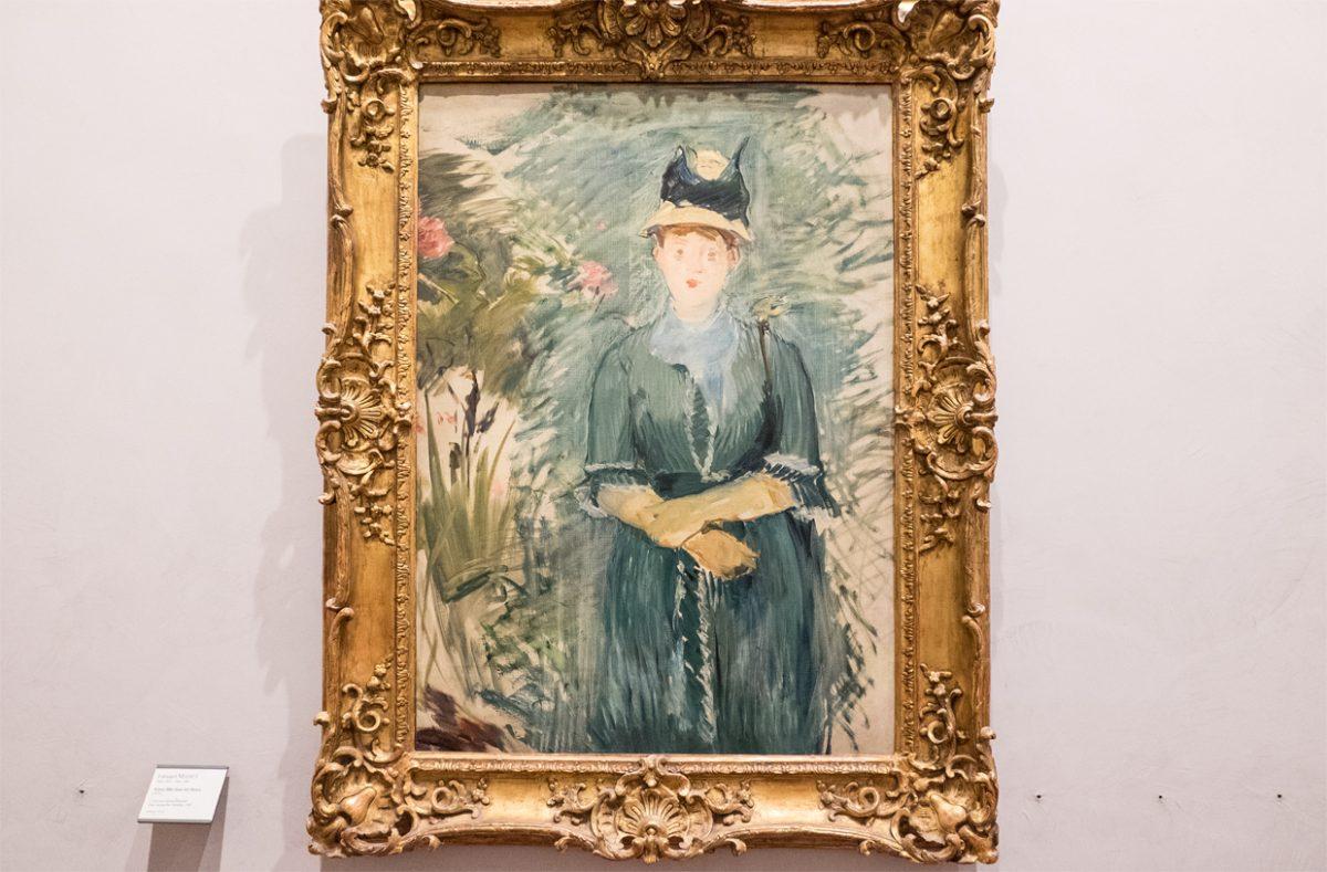 Edouard Manet Jeune fille dans las fleurs