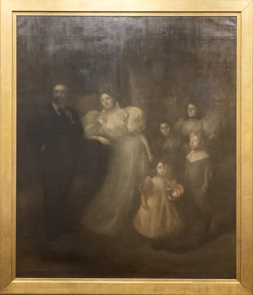 Eugene Carriere Ernest Chausson und seine Familie 1895