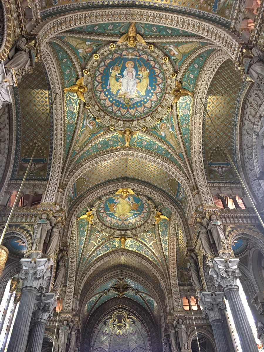 Kirchendecke Notre-Dame de Fourvière