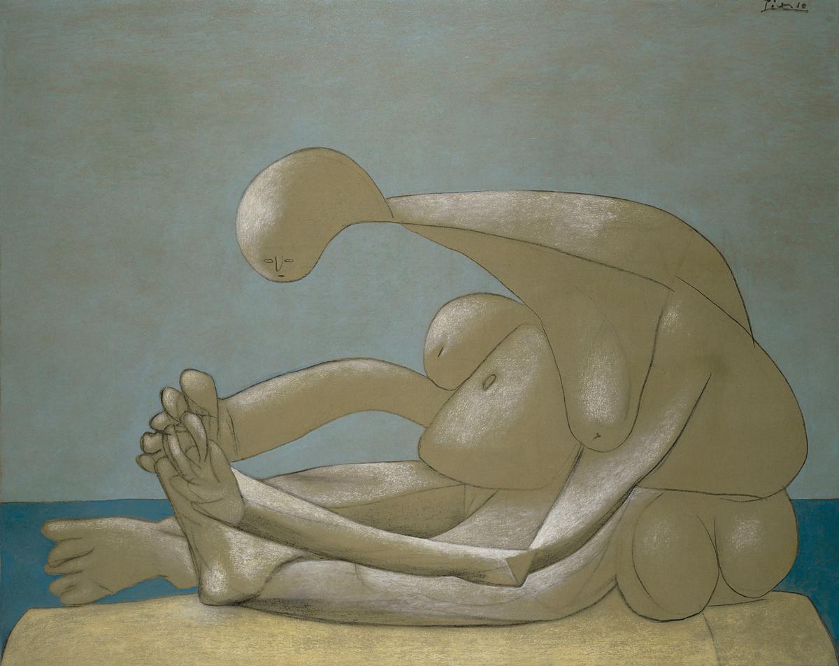 Picasso Femme assise sur la plage Museum Lyon