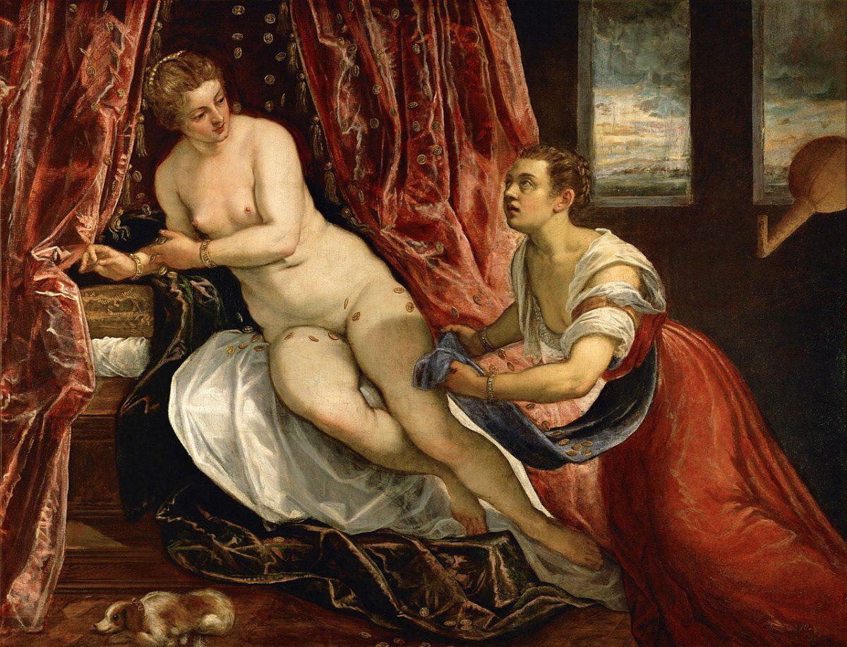 Tintoretto Danae 1570 Lyon