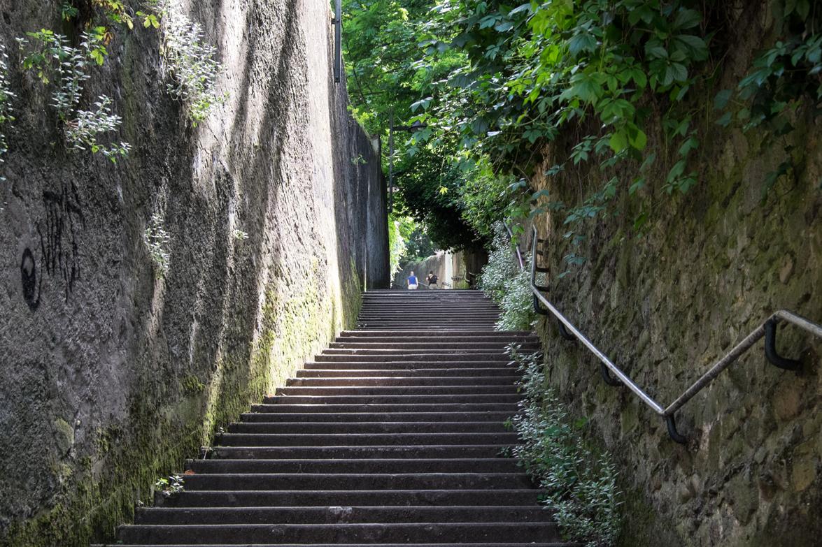 Treppe zum Fourvière-Hügel in Lyon