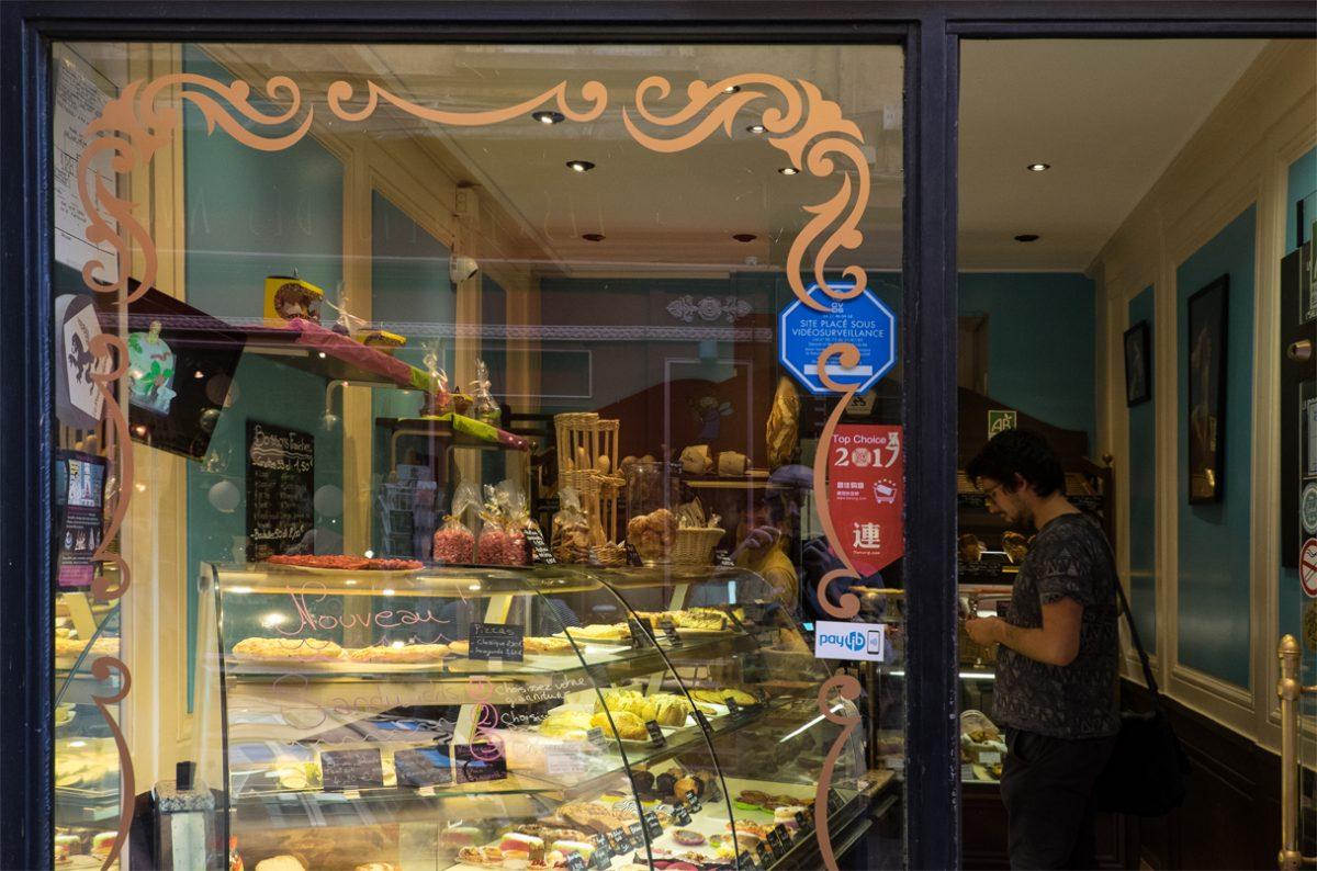 Typisch französische Boulangerie in Lyon