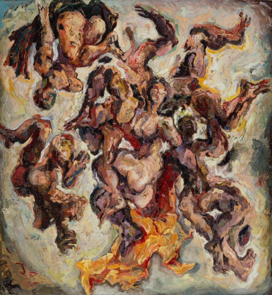 Gatzemeier Höllensturz 1989 Öl auf Leinwand 280 x 260 cm