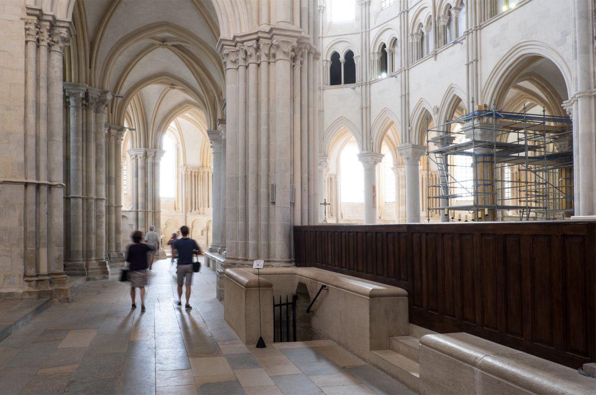 Madeleine Vézelay Übergang zum gotischen Chor