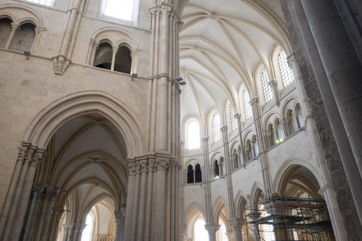 Madeleine Vézelay Blick in den gotischen Chor