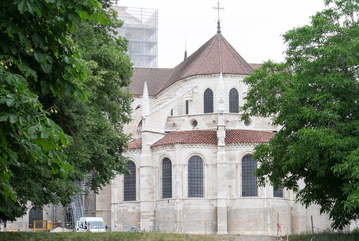 Ste-Marie-Madeleine Vézelay der Chor von außen