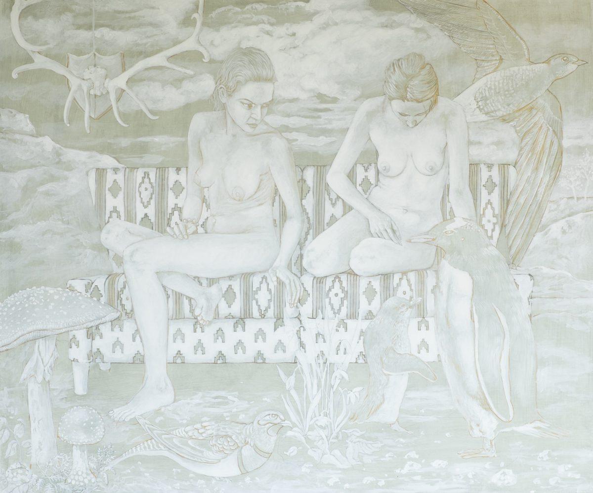Wie male ich mit Ölfarbe Weißhöhung Landschaft