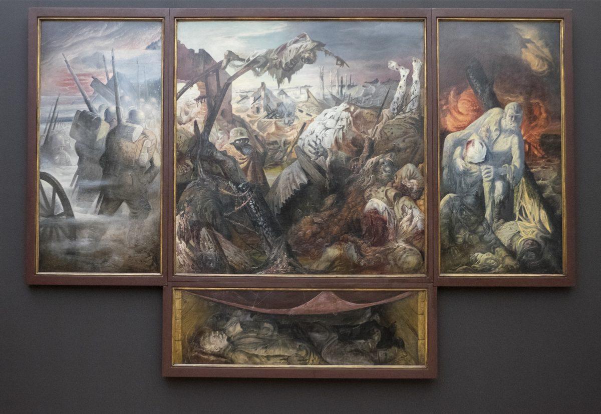 Otto Dix Kriegstriptychon in der Galerie Neue Monster Dresden