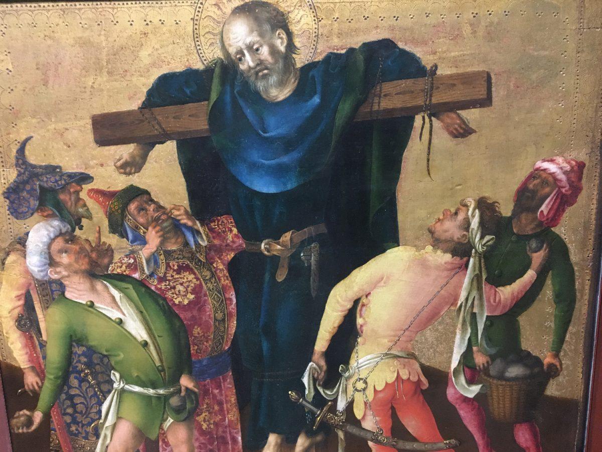 Stefan Lochner Die Apostelmartyrien Am Kreuz