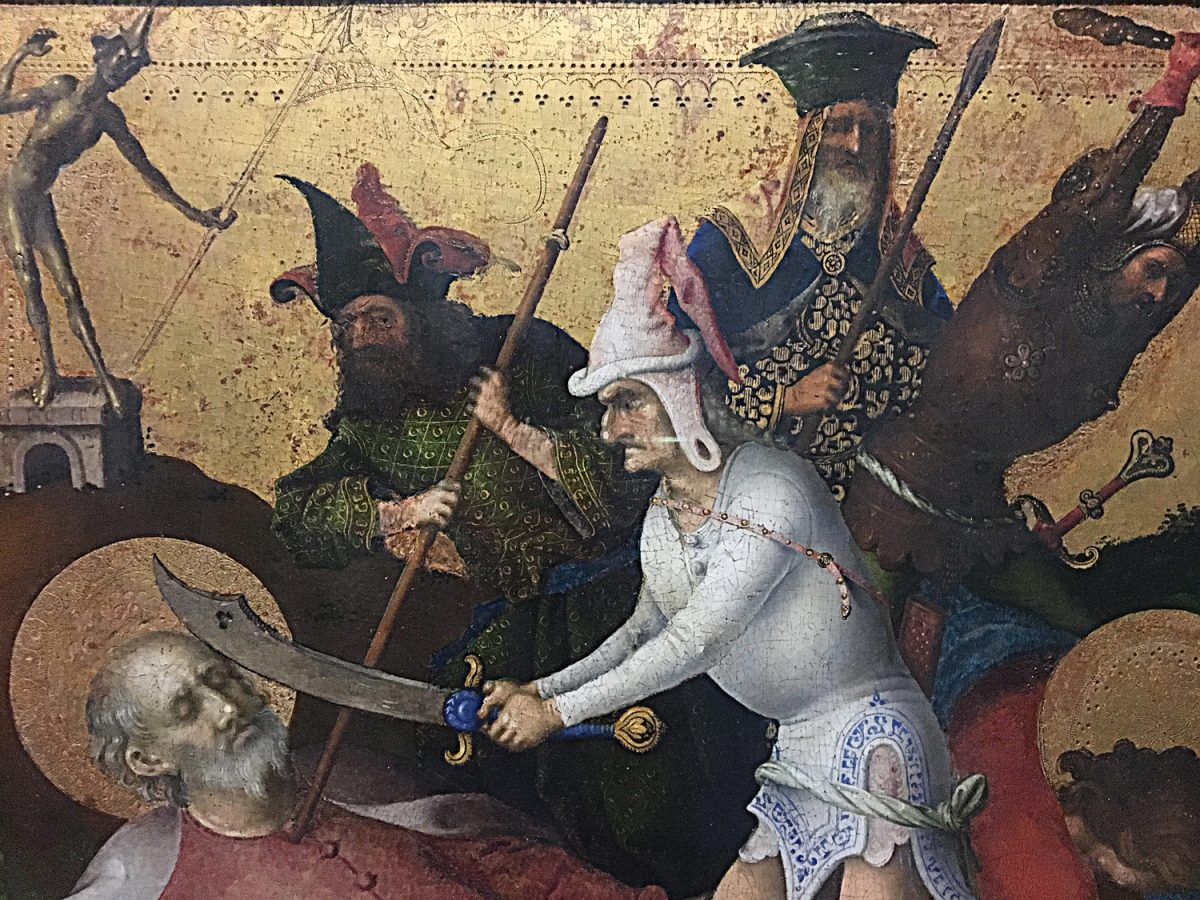 Stefan Lochner Die Apostelmartyrien der Heilige am Boden