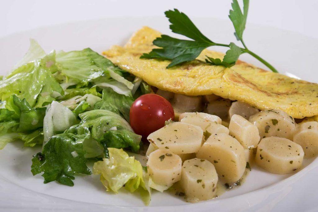 Schwarzwurzel-Winterspargel Omelette
