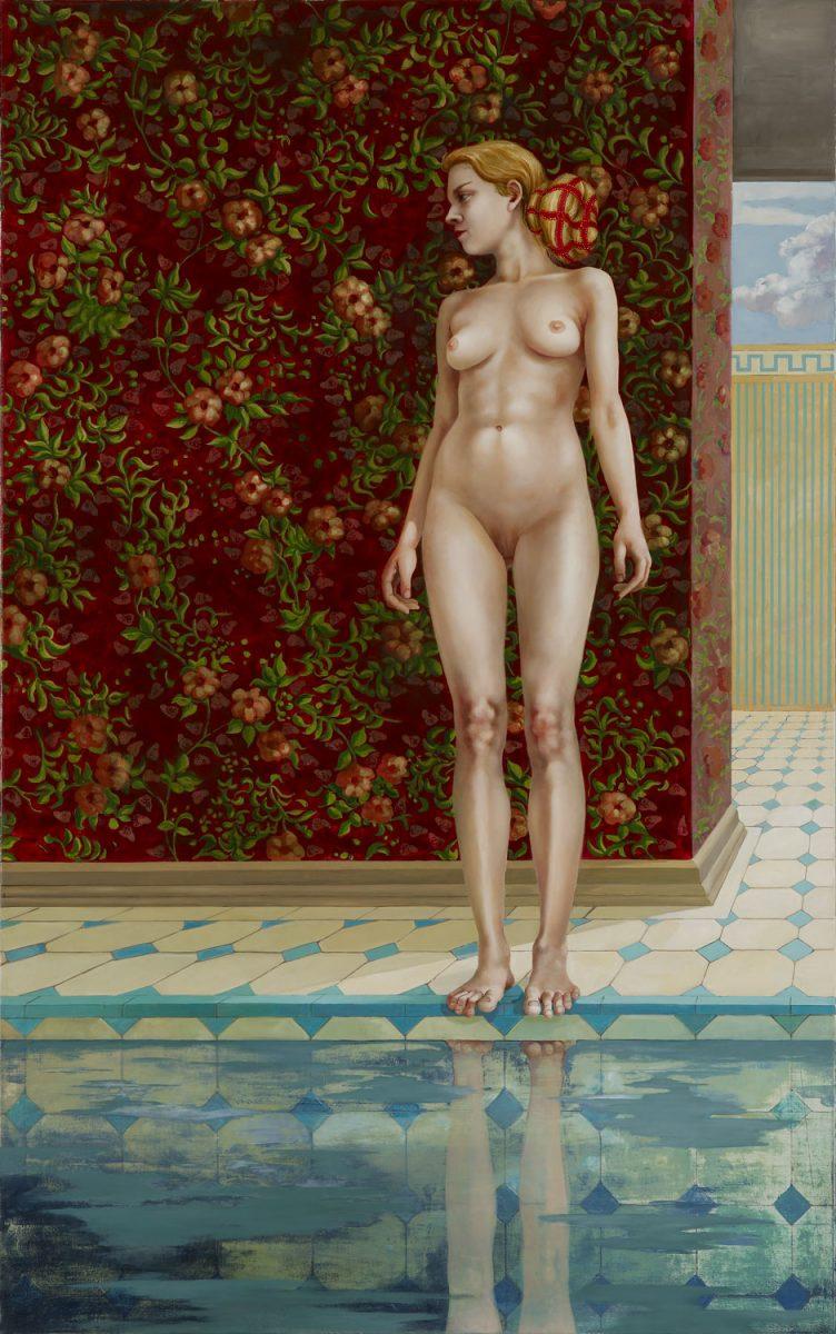 Beckenrand 2007 240 x 150 cm Öl Leinwand