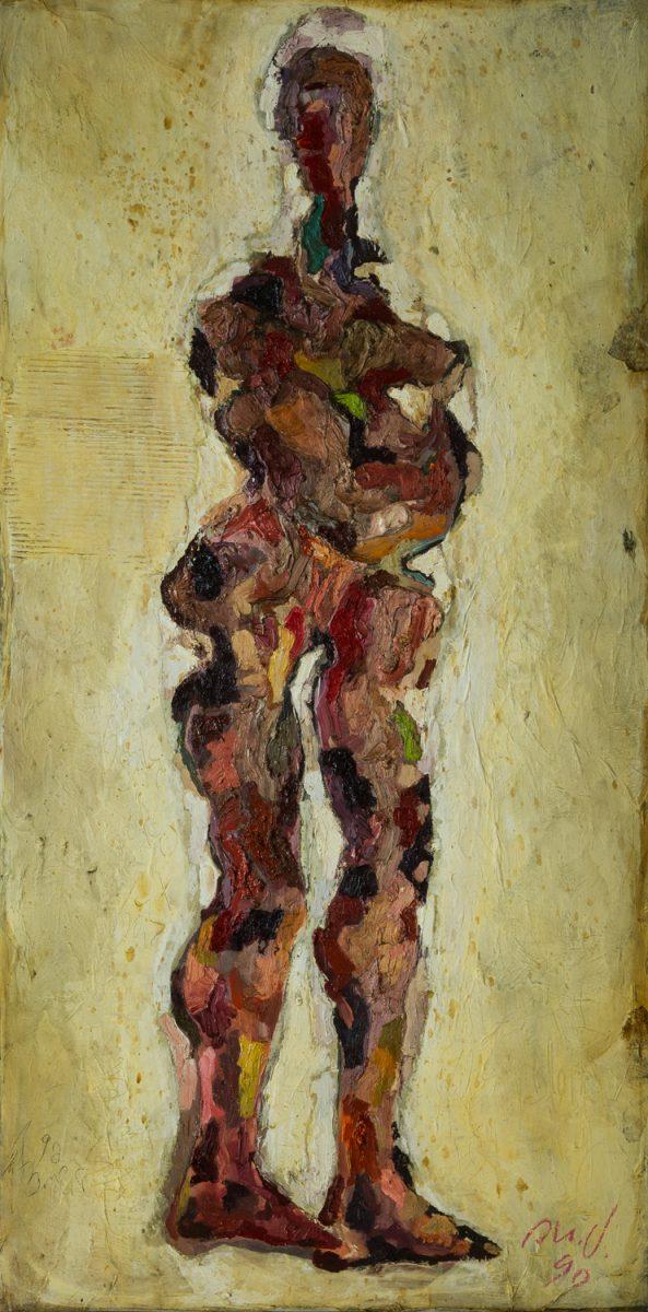 Variation Pelzchen III 1990 Öl und Kalkfarbe auf Leinwand