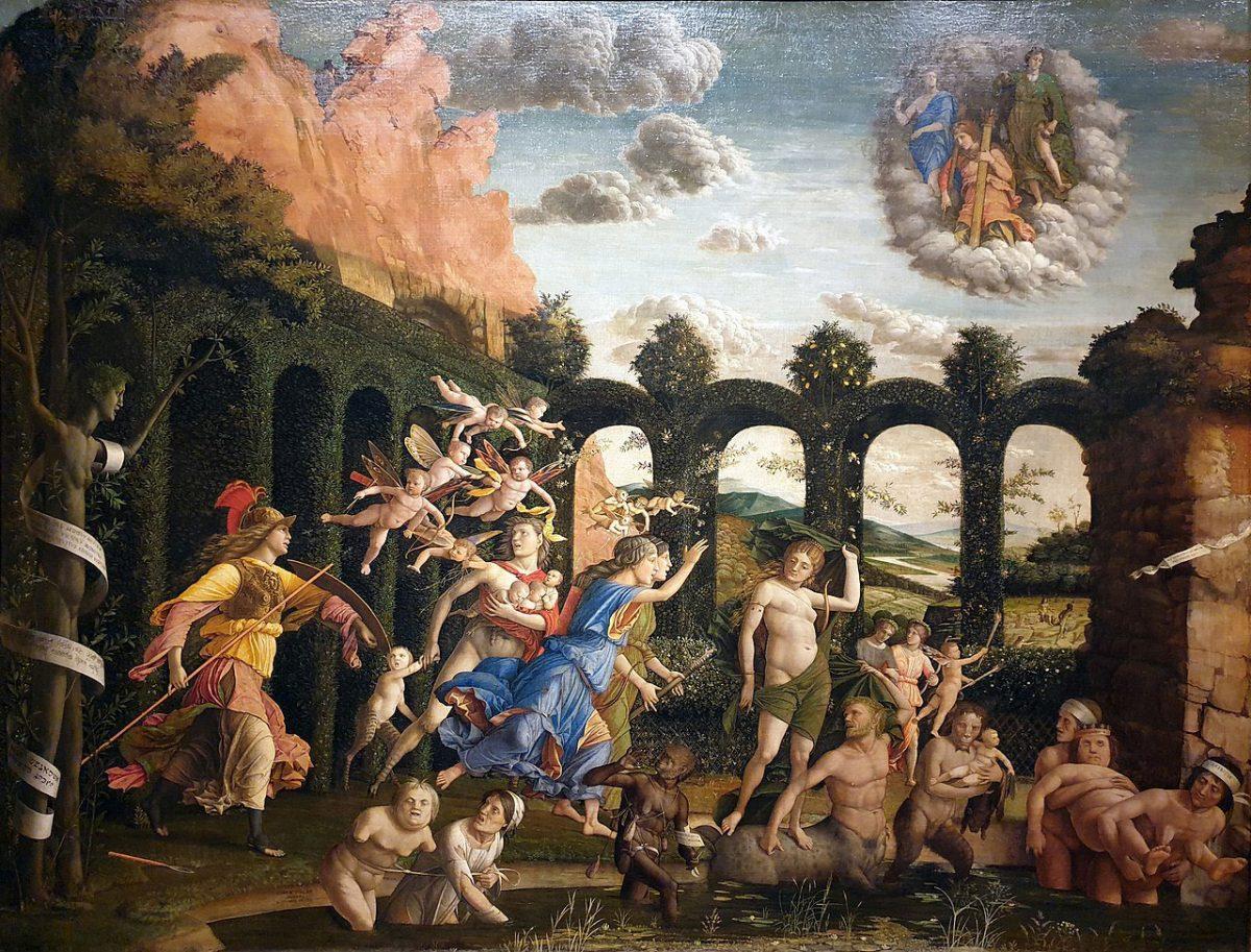Mantegna Minerva vertreibt die Laster aus dem Garten der Tugend Musée du Louvre Paris