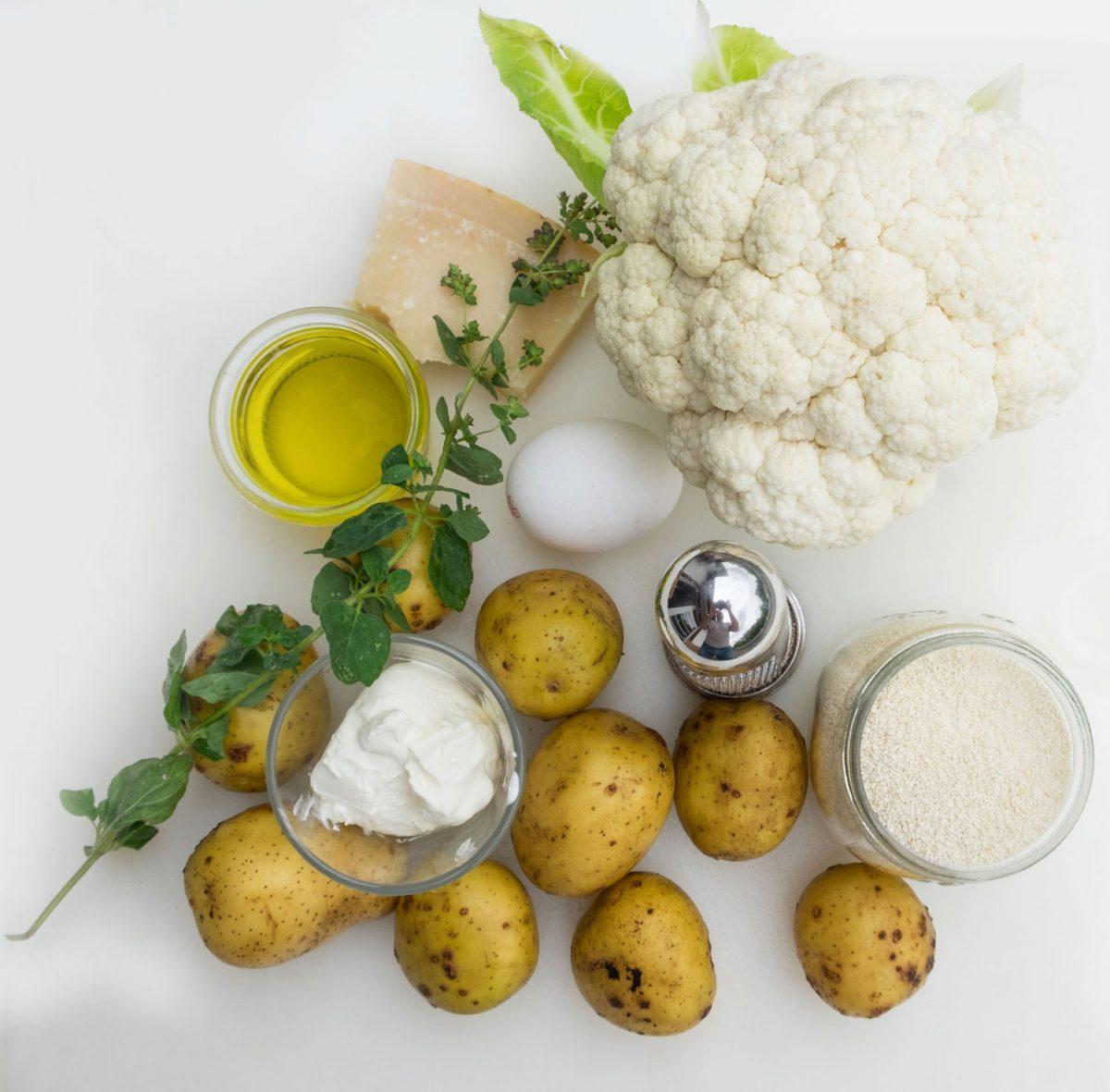 Zutaten für die Parmesankruste