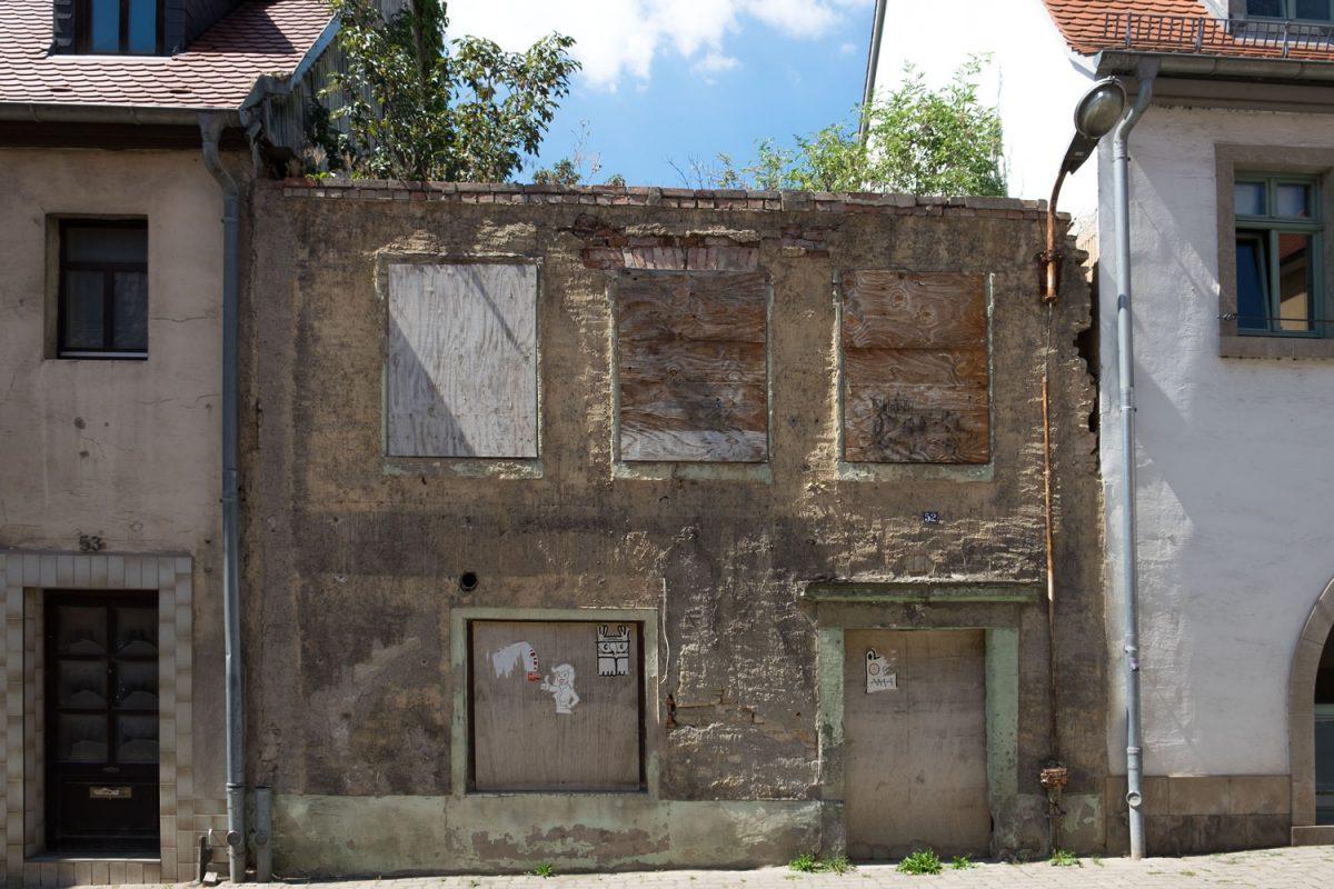 Zerfallenes Haus in Freyburg